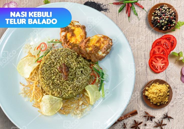 Nasi Kebuli Telur Balado Catering Alkautsar